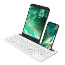 Bluetooth Keyboard with built-in stand and touch-pad